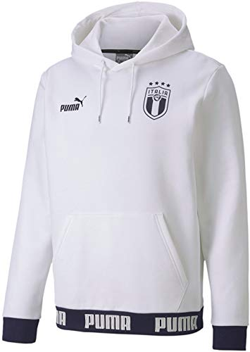 PUMA Herren Sweatshirt Culture Hoody - Weiß - X-Groß