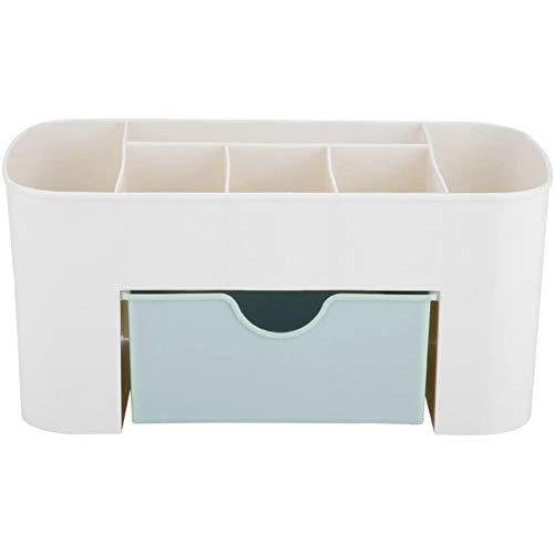 YCX Schreibtisch Organizer, Datei Stationery Office Supplies Desktop Lagerung Organizer Container, mit Schublade Jewelry Halterung Unterschrank,Weiß