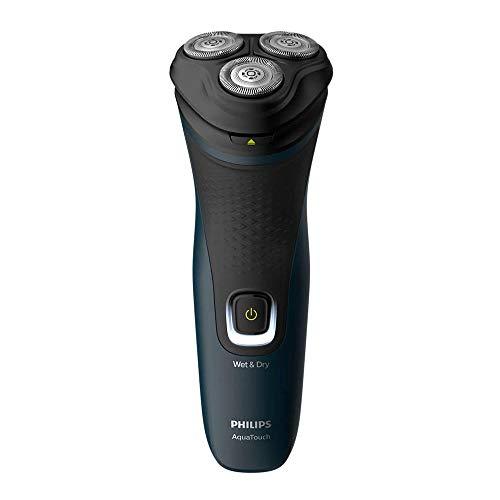 Barbeador elétrico seco ou molhado Shaver 1100, 1 velocidade, Azul Malibu, Bivolt- Philips