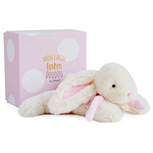 Doudou et Compagnie - Peluche de conejo (25 cm), color rosa