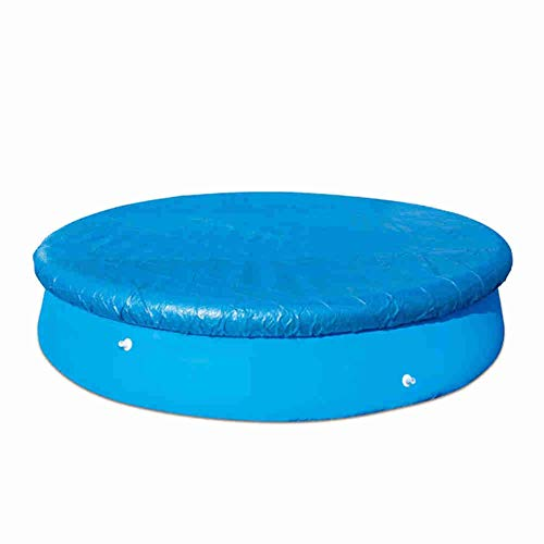 12ft Swimming Pool Cover Round Easy Set Pool Cover Waterproof Rainproof Dust Cover Ground Swimming Pool Protection Cover