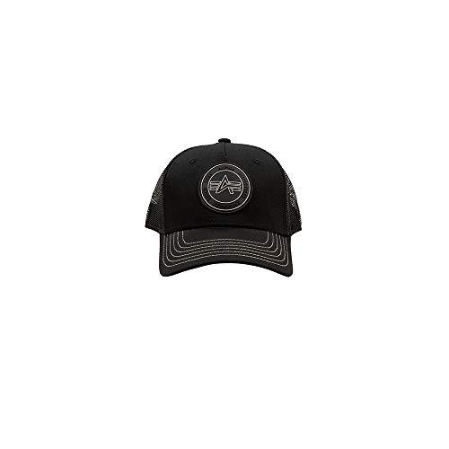 Alpha Industries Unisex Cap Trucker Patch, Farbe:black, Größe:one size