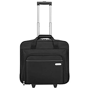 Targus Metro Rolling Laptop Case Bag for Business Commuter with Durable Water Resistant Expandable Compartments Trolley Strap Padded Protection fits up to 16-Inch Notebook Screen Black  TBR003US