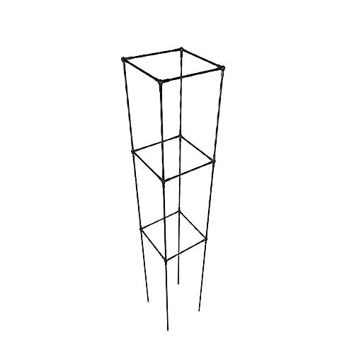 PLHMS Quadrat Rankhilfe, Rankobelisk Rankgitter, 160cm Obelisken, freistehender Obelisk für Garten, Dequate Metall Rosensäule, Rosen, Kletterpflanzen, Pyramide, wetterfeste Rankturm, Rankgestell