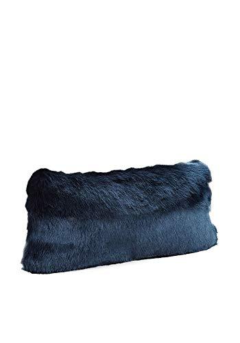 Donna Salyers' Fabulous-Furs Couture Collection Steel Blue Mink Faux Fur Pillows (12x22 in) (Blue Mink) -  Fabulous Furs