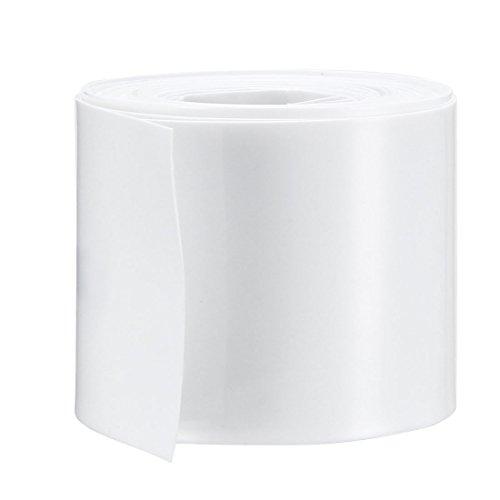 Sourcingmap - Tubo termorretráctil de PVC (43 mm, para batería 26650, 5 m), color blanco