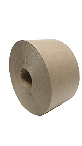 YB Packaging Reinforced Gummed Kraft Paper Tape, for Sealing and Packaging, Commercial Quality #233
