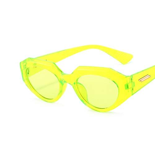 SCAYK Nuevo Lujo Vintage Gato Ojo Gafas de Sol Mujeres Moda Cuadrada Gafas de Sol Hembra Retro Tonos Negros UV400 Gafas de Sol Gafas de Ojos Moda Gafas de Sol para Mujeres (Lenses Color : C6 Green)