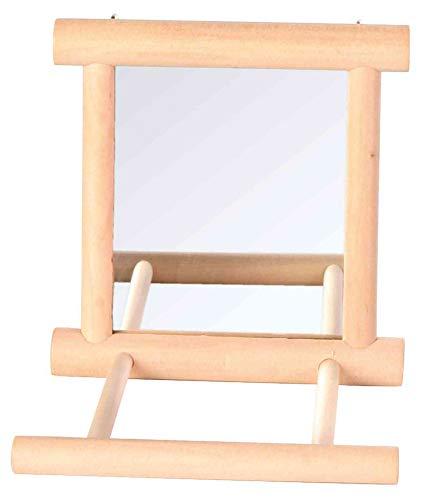 Trixie 5861 Spiegel mit Holzrahmen, 9 × 9 cm