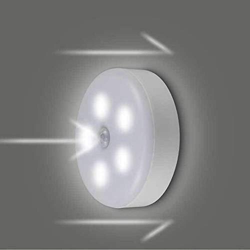 Luz nocturna LED con detector de movimiento, luz nocturna, iluminación de pasillo, iluminación de emergencia, funciona con pilas, para gabinete, armario, escaleras, pasillos, habitaciones infantiles