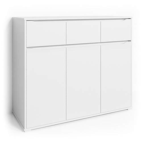 Vicco Kommode Set Ruben Schubladen Sideboard Mehrzweckschrank Schrank 120cm weiß