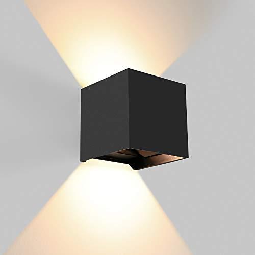 BELLALICHT 12W LED Wandleuchte Wandlampe - Aluminium Up Down Wandlichter Innen Außen, Lichtstrahl Einstellbar, IP65 Wasserdicht für Bad Flur Treppenhaus Wohnzimmer Schlafzimmer