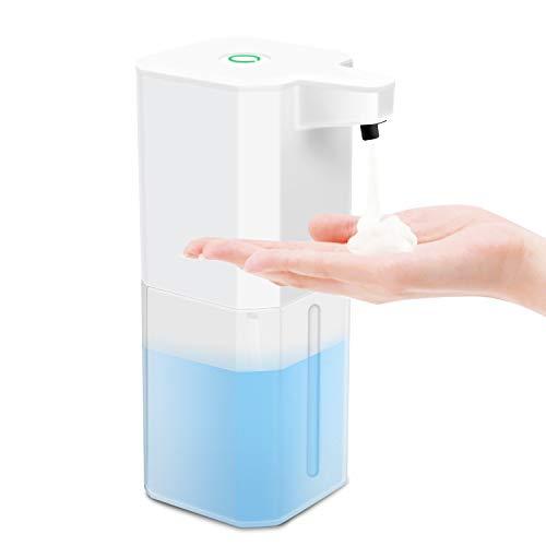 WOT I Seifenspender Automatisch,Schaumseifenspender mit Sensor Infrarot, 360ml No Touch Seifenspender für Küche, Bad,Hotel,Schule,Büro