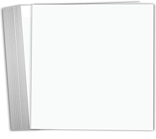 Hamilco White Cardstock Scrapbook Paper 12x12 Heavy Weight 100 lb Cover Card stock – 25 Pack