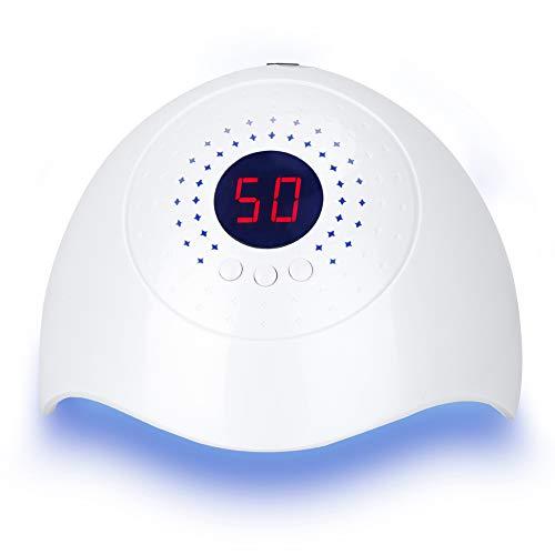 KimcHisxXv 36W nageldroger Led/Uv-lamp voor nagels, 60/80/90S timer, infraroodsensor, Lcd display, met smart waarneming tijdvastgezet, geschikt voor alle gels wit