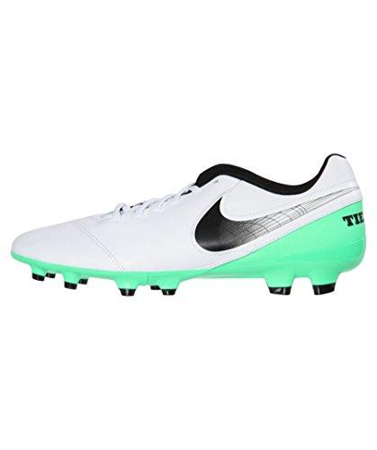 Nike Tiempo Genio.II Leather FG, Scarpe da Calcio Uomo, Bianco (White/Black-Electro Green), 44.5 EU