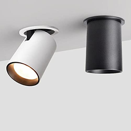 CESULIS Foldable Recessed Ceiling Downlight H 7W Beauty products Black White Max 77% OFF 12W