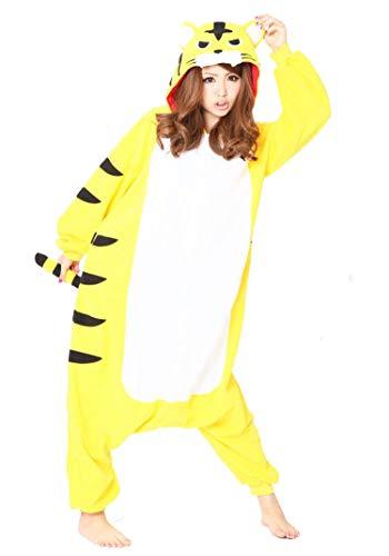 SAZAC Fleece Pyjama Kigurumi - Gelber Tiger