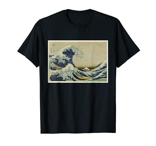 The Great Wave Japanese Woodblock Print Hokusai Art T-Shirt