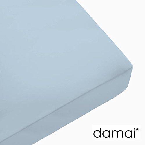 Damai Damai Nightkiss Topper hoeslaken hemelsblauw - 9-15cm met elastiek - 90 x 220 cm 100% katoen