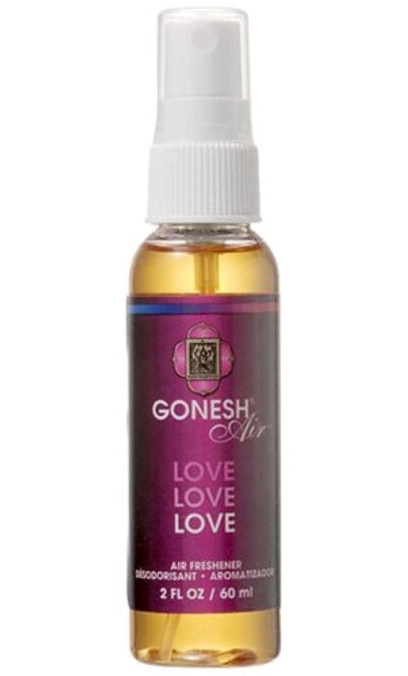 赤しっかり必要性GONESH(ガーネッシュ)スプレー エアフレッシュナー ラブ 60ml (ベリーの香り)