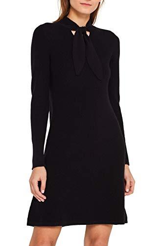 ESPRIT Collection Damen 109EO1E039 Kleid, Schwarz (Black 001), Large (Herstellergröße: L)