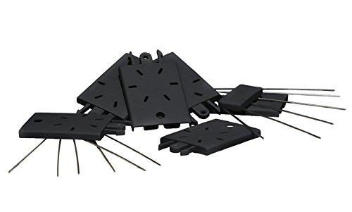 Windhager Taubenabwehr Verlängerungs-Set für FLEXI CLICK-SYSTEM Vogelabwehr Taubenabwehrspitzen PVC-Leiste Edelstahl-Spikes, max. 75 cm, 36 Stück, 07121