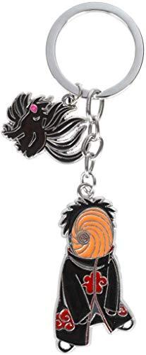 CosInStyle Schlüsselanhänger mit Chibi Figuren Obito Uchiha & Bijuu Kurama