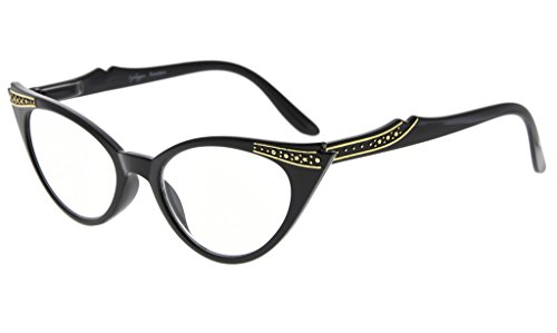 Cat-Eye Brille mit Ziersteinen