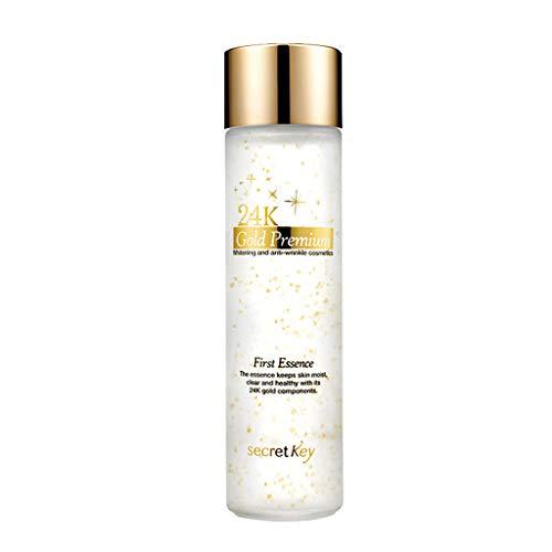 SECRET KEY 24K Gold Premium First Essence 5.07 fl.oz. (150ml) - High Nutrition 1 Step Skincare Essence with Gold Light After Cleansing, Moisturizing Essence for Aging & Tough Skin
