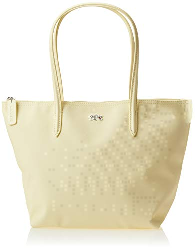 Lacoste L.12.12 Concept Small Shopping Bag, Flour/Lacquer-Dark Bigarreau-Burgundy