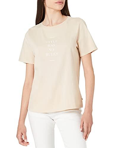 edc by Esprit 041CC1K324 T-Shirt, 270/Beige, Medium Donna