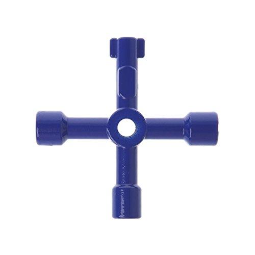 JHD Nuevo 1 Uds 4 en 1 Llave de Llave de Interruptor Cruzado Destornillador Triangular Cuadrado Universal