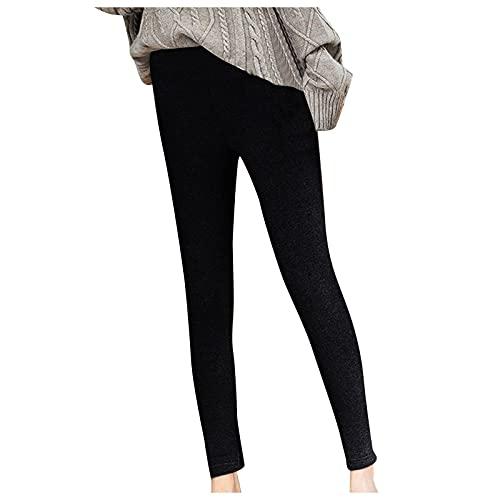 Alueeu Leggings Térmicos para Mujeres Invierno pantalon Deporte Felpa Forrado de Terciopelo Push up Mallas Pants Talla Grande
