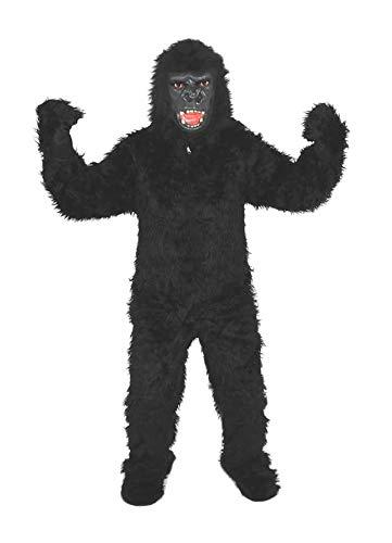 Gorilla schwarz Einheitsgrösse L-XL Kostüm Fasching Karneval Fastnacht Motto Party Halloween Affe Männer