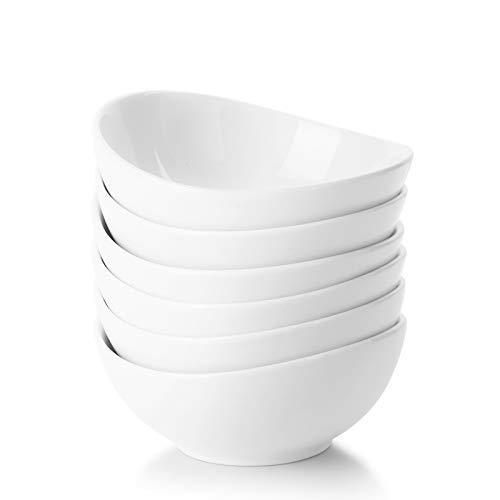 Sweese 123.001 Mini-Schüssel 6er Set aus Porzellan, 100 ml, Dipschale, Snackschale, Dessertschale, Tapasschale, Eisschale