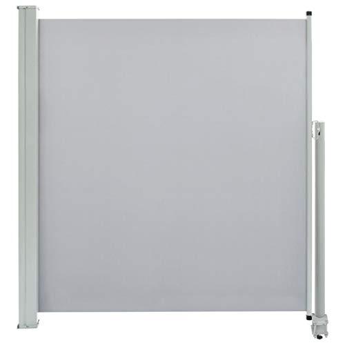 vidaXL Seitenmarkise Ausziehbar 140x300 cm Grau Sichtschutz Windschutz Markise