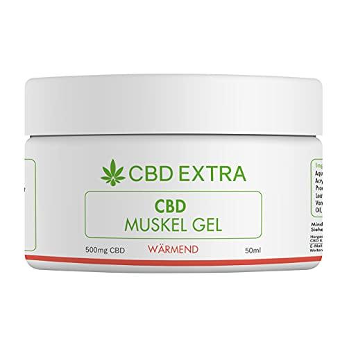 CBD EXTRA Muskelsalbe (Wärmend) – 100% THC-freie CBD Salbe mit wärmendem Effekt für beanspruchte Muskulatur und Gelenke – Schmerzgel mit wertvollen Inhaltsstoffen aus der Natur, 50 ml