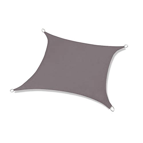 ZDYLM-Y Toldo Vela de Sombra Rectangular, toldo Impermeable, toldo de Bloque UV 98%, para césped y jardín, Patio,Gris,2x3m