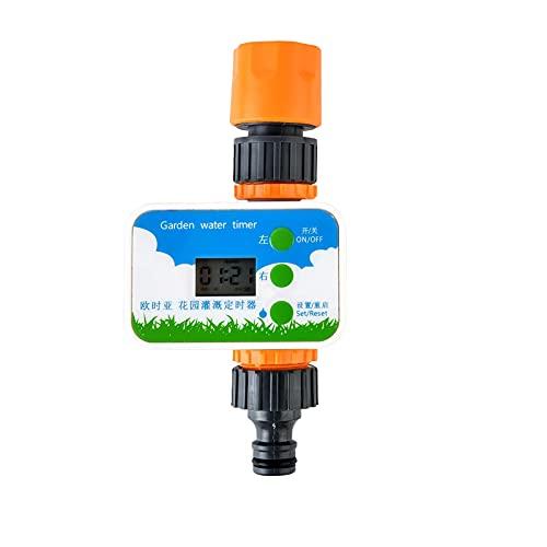 HelloCreate Temporizador de riego de jardín Dispositivo temporizado de riego dispositivo de riego de la planta Temporizador de manguera