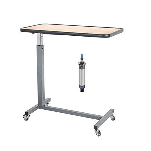 Mesa de bandeja móvil, escritorio para ordenador portátil, mesa de sobrecama ajustable en altura, mesa auxiliar de sofá multiusos con 360 ° Whe.