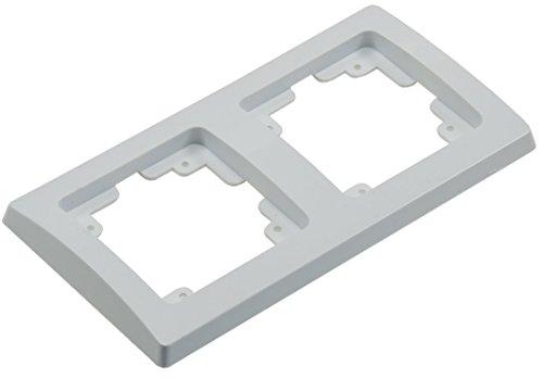 ChiliTec Delphi 2-Fach Rahmen Abdeck-Rahmen für Längs- und Quermontage Weiß