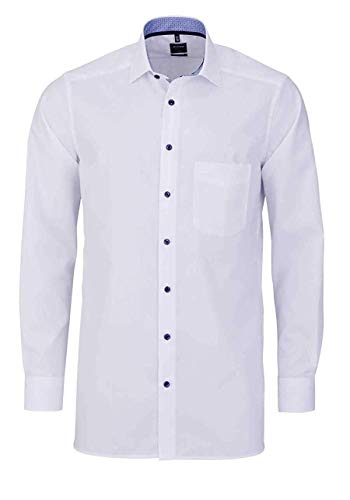 OLYMP Luxor modern fit Hemd extra Langer Arm Haifischkragen weiß Größe 44