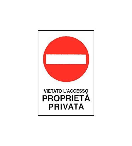 CARTELLO PROPRIETA' PRIVATA V.A. 30x 45 ALLUMINIO [TARGOTIMBRI ]