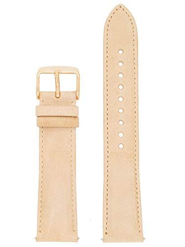 Fossil Uhrenarmband 20mm Leder Beige Uhrband ES-3777 / LB-ES3777