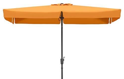 Schneider Parasol New York, Mandarine, env. 270 x 150 cm, en 6 Parties, rectangulaire, 270x150x250 cm