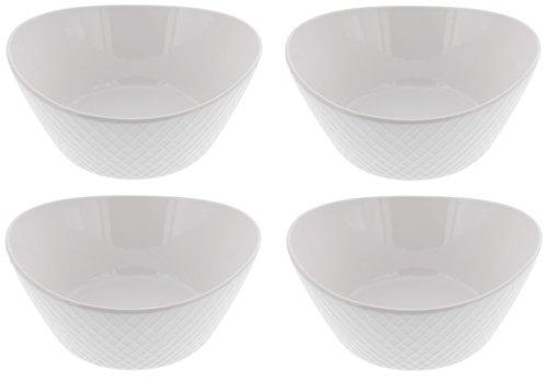 Over & Back 4-Piece 'What a Dish' Porcelain Bowl Set, White