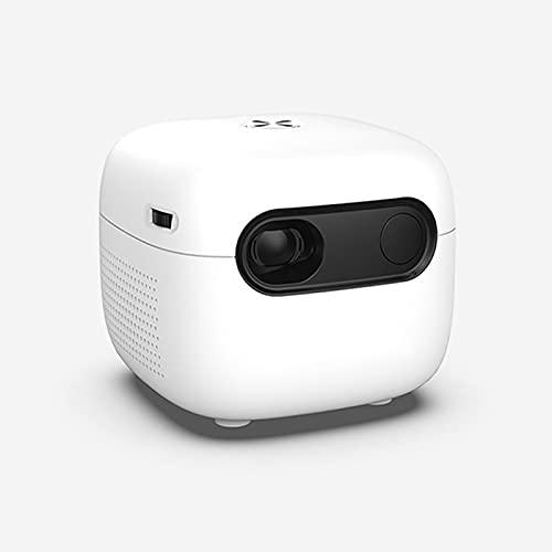 WWDKF Proyector, Mini Mini Proyector Casero LED HD 1080P, Adecuado para Video, TV, Películas, Juegos De Fiesta, Entretenimiento Al Aire Libre