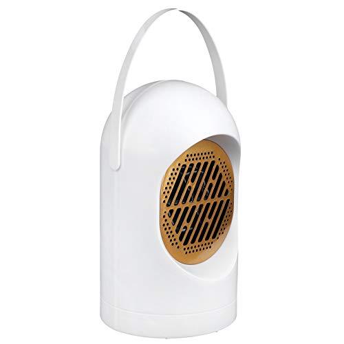 Germerse Conveniente Calentador de Escritorio ABS 8.1x4.7x4.7in Calentador de Ventilador de(White, European Standard 220V)