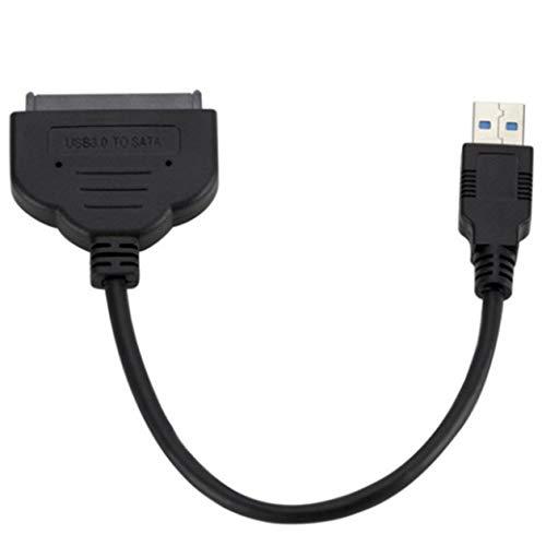 Câble Adaptateur USB 3.0 vers 2,5 Pouces SATA III 22 Broches avec UASP - Convertisseur SATA vers USB 3.0 pour Disque Dur SSD/HDD Externe - Bleu
